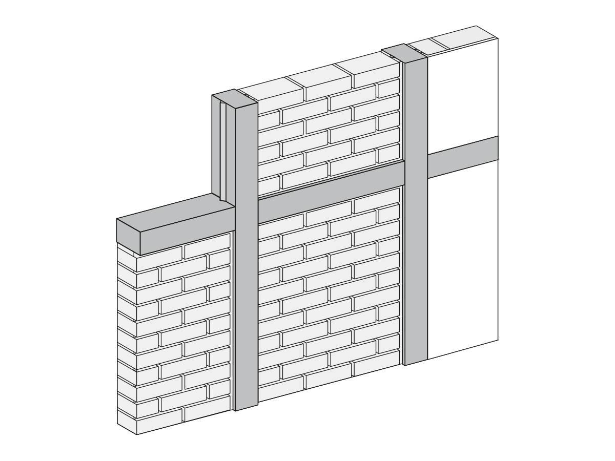 Muster Lehmstein-Wand