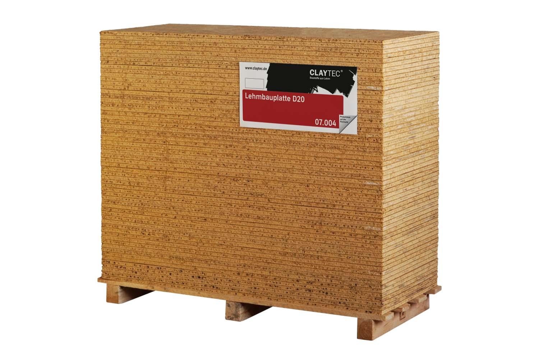 Claytec Lehmbauplatte D=20mm 0,625 × 1,50 m