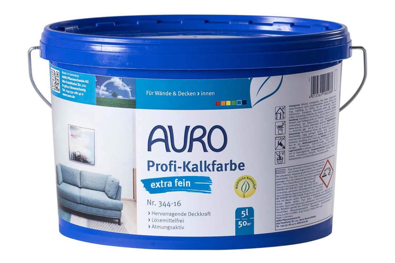 Auro Profi-Kalkfarbe EXTRA FEIN Nr. 344