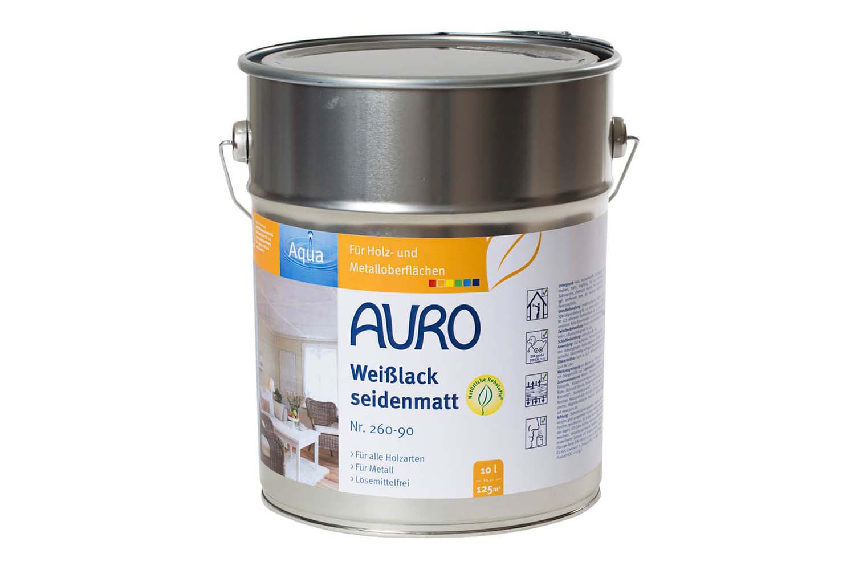Auro Buntlack seidenmatt Nr. 260 - Weißlack, Aqua
