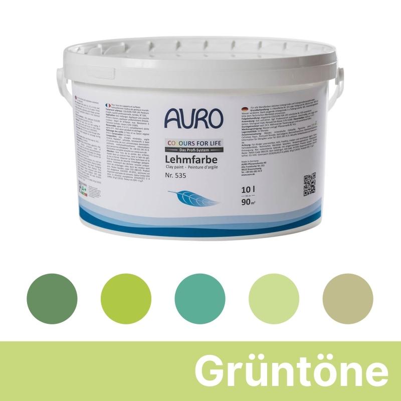 Auro Colours for Life Lehmfarben - Grün