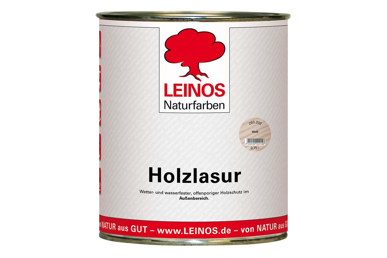 Leinos Holzlasur für außen 260 Weiß
