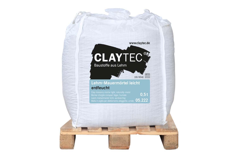 Claytec Lehm-Mauermörtel leicht erdfeucht