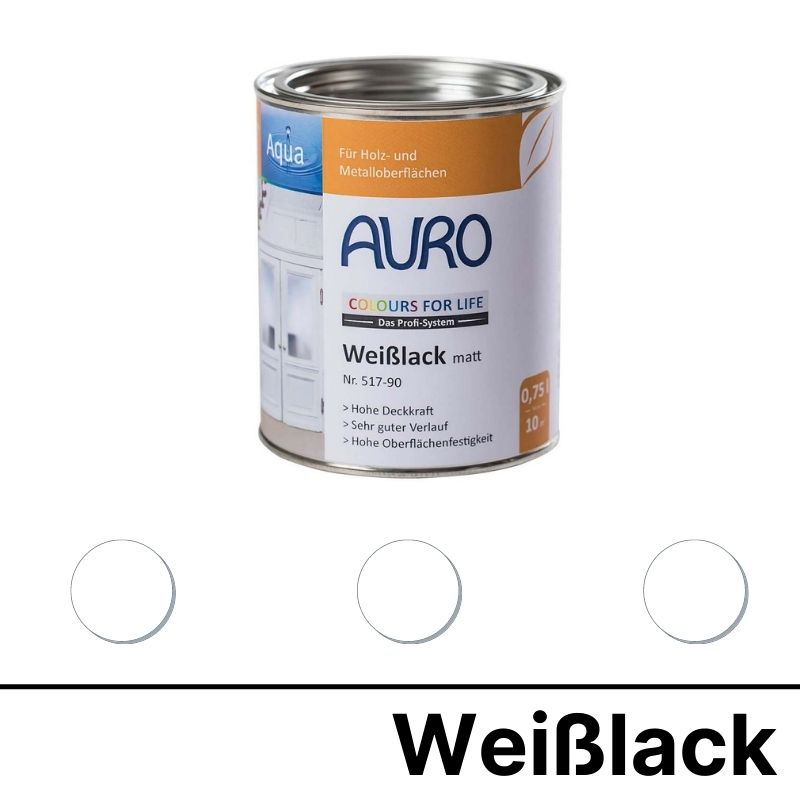 Auro Colours for Life Weißlack matt