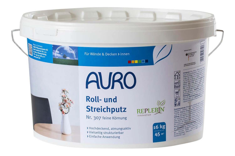 Auro Roll- und Streichputz feine Körnung Nr. 307