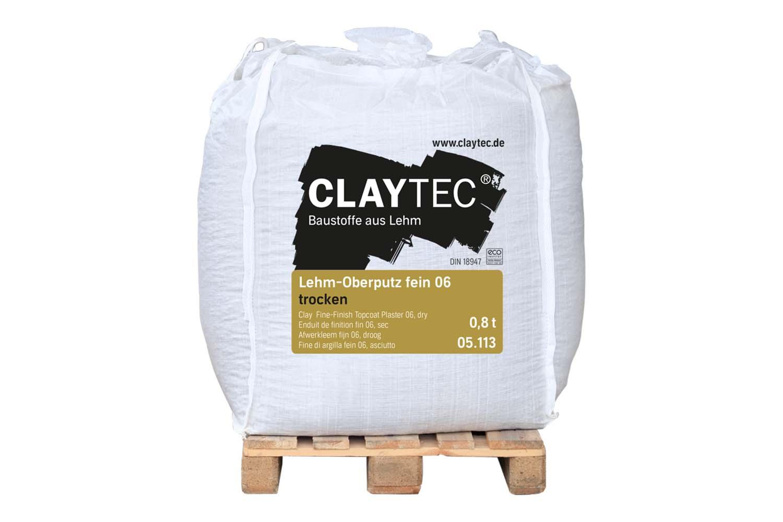 Claytec Lehm-Oberputz fein 06 trocken