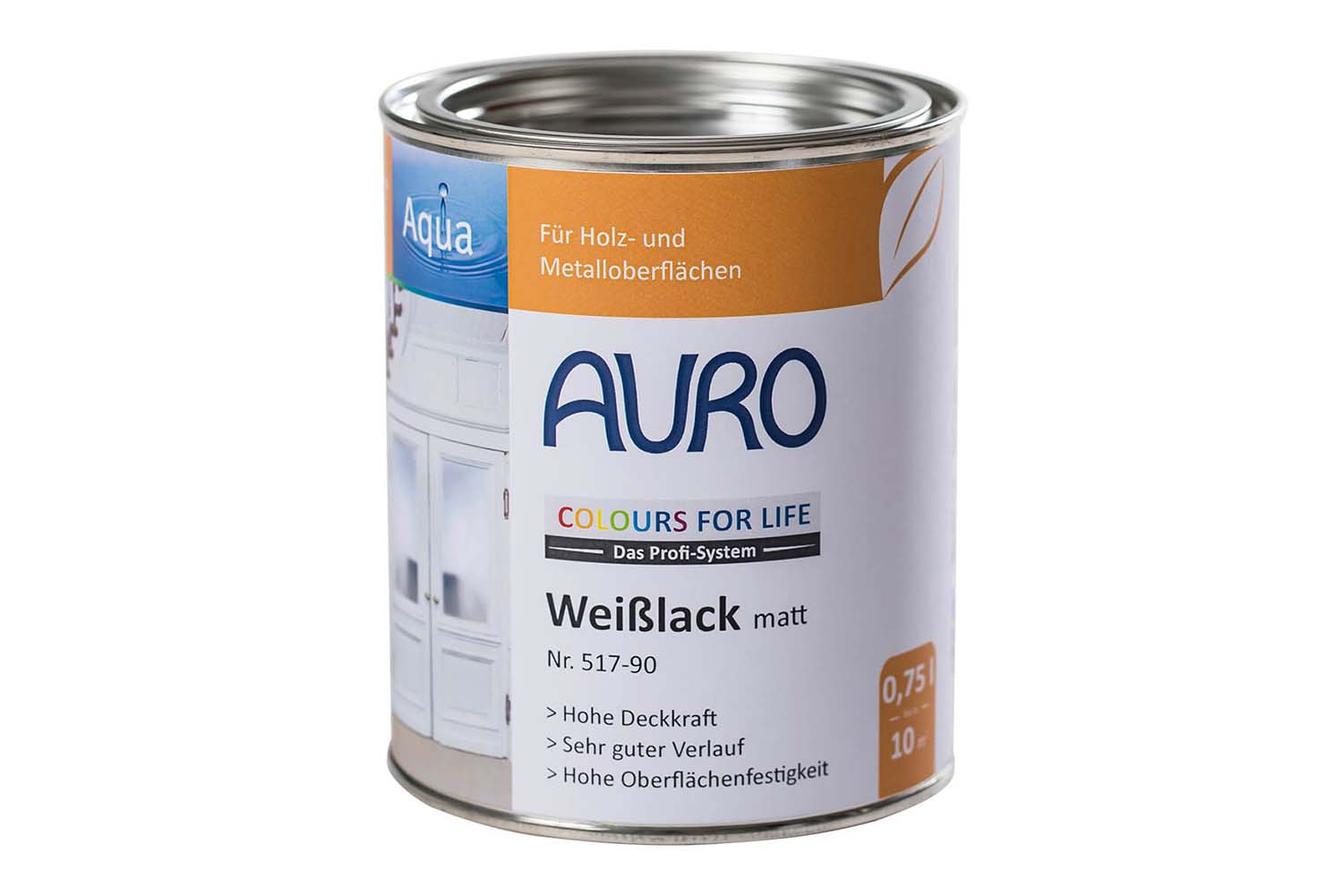 Auro Weißlack matt Nr. 517 Colours for Life