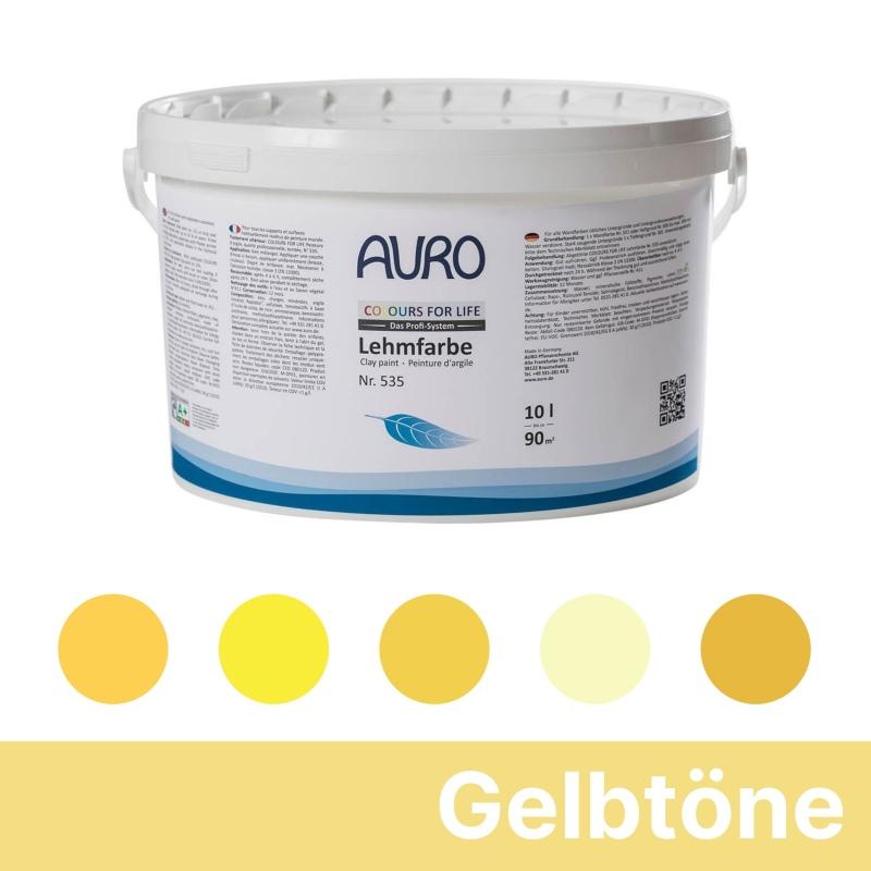 Auro Colours for Life Lehmfarben - Gelb
