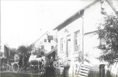 Sattlerei Oschwald um 1900 in Elzach