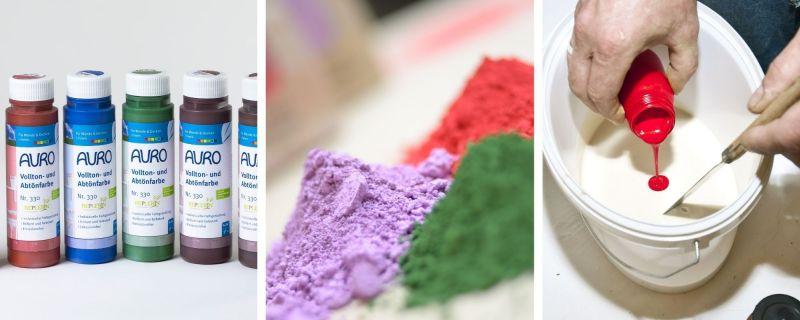 Pigmente und Abtönfarben