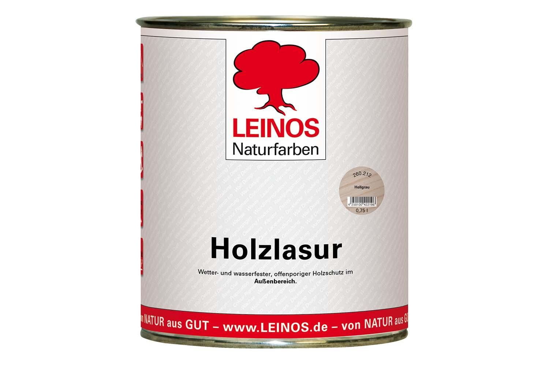 Leinos Holzlasur für außen 260 Hellgrau