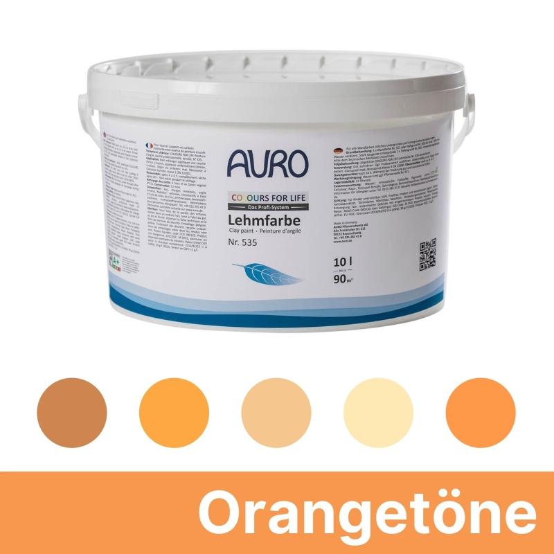 Auro Colours for Life Lehmfarben - Orange