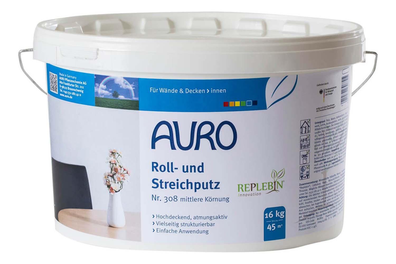 Auro Roll- und Streichputz mittlere Körnung Nr. 308