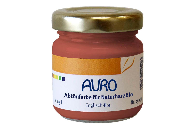 Auro Abtönfarbe für Naturharzöle Nr. 150 - Englisch-Rot