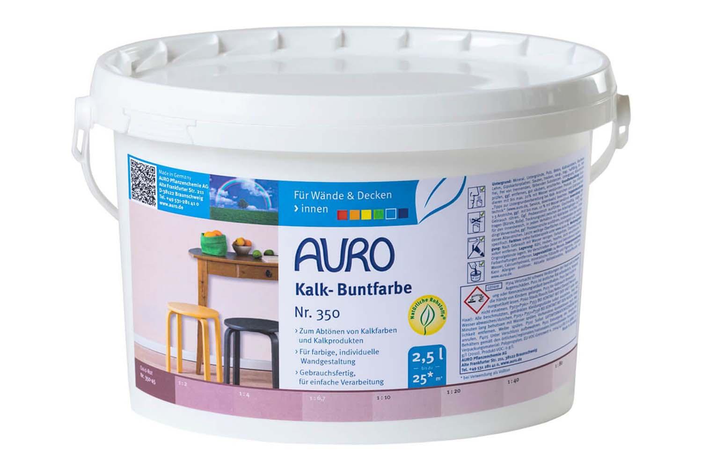 Auro Kalk-Buntfarbe Nr. 350 - Oxid-Rot
