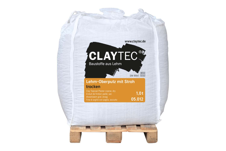 Claytec Lehm-Oberputz grob mit Stroh trocken