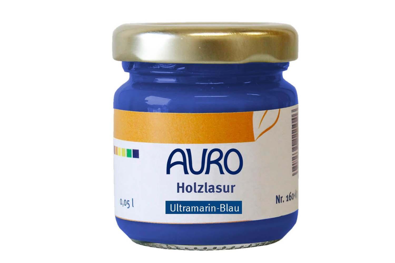 Auro Holzlasur Aqua Nr. 160 - Ultramarin-Blau
