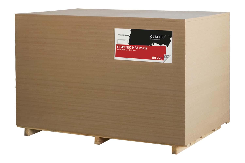 Claytec HFA Holzfaserausbauplatte maxi D=25mm 1,25 × 1,875 m