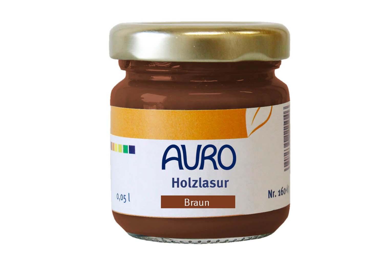 Auro Holzlasur Aqua Nr. 160 - Braun