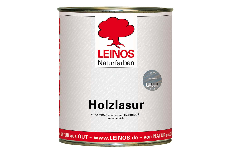 Leinos Holzlasur für innen 261 Friesenblau