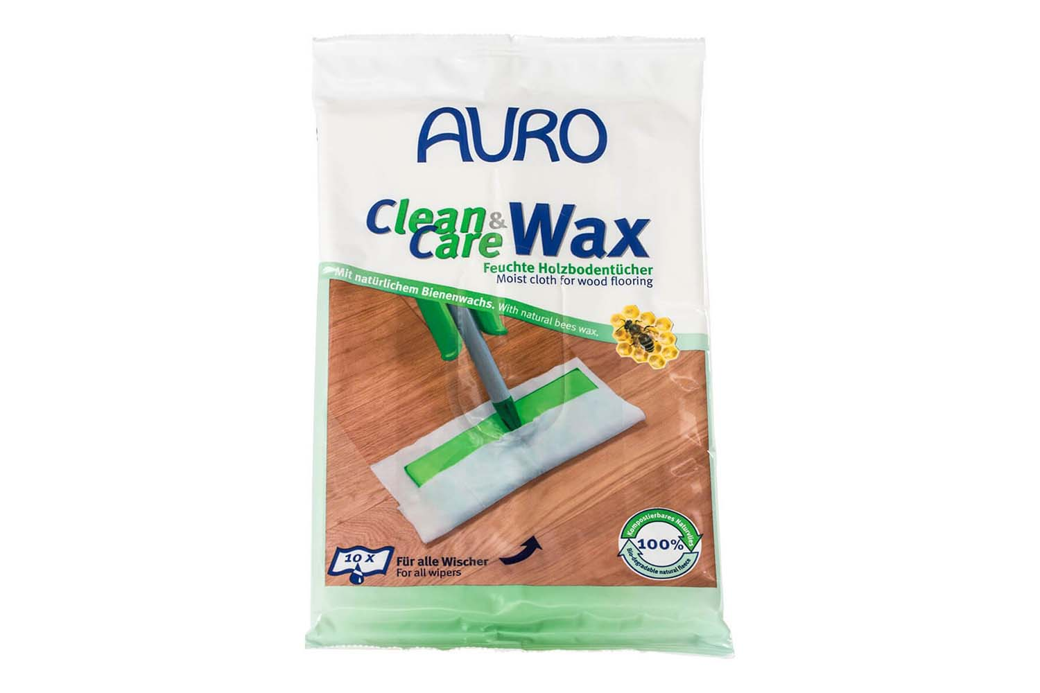 Auro Clean & Care Wax Nr. 680 - Feuchte Holzbodentücher
