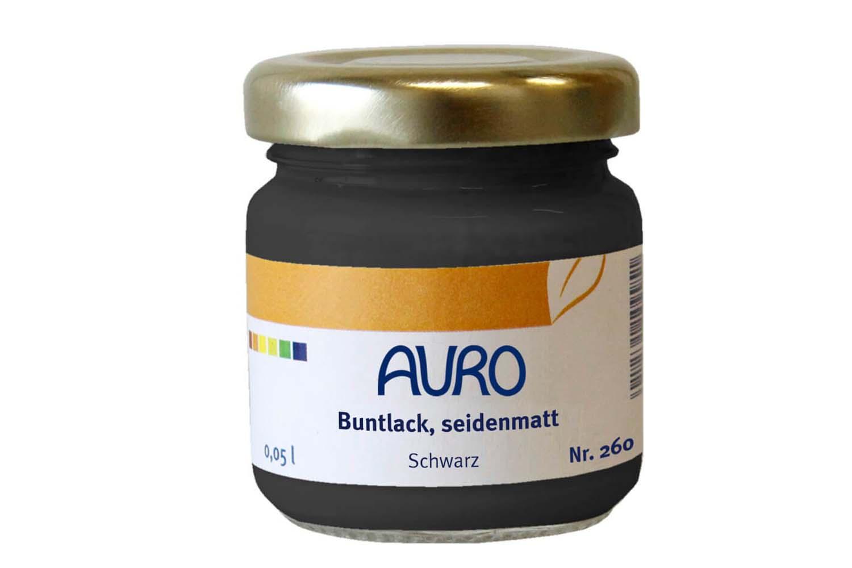 Auro Buntlack seidenmatt Nr. 260 - Schwarz