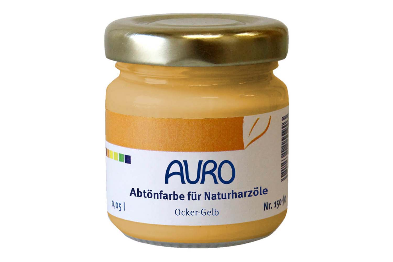 Auro Abtönfarbe für Naturharzöle Nr. 150 - Ocker-Gelb