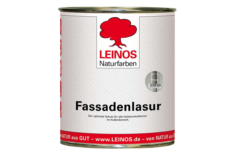 Leinos Fassadenlasur 264 Silbergrau