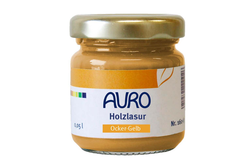 Auro Holzlasur Aqua Nr. 160 - Ocker-Gelb