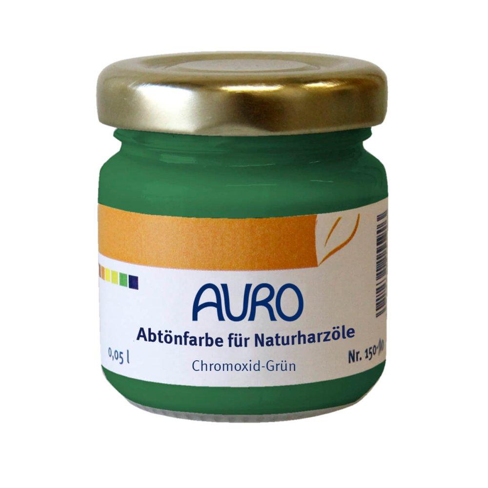 Auro Abtönfarbe für Naturharzöle Nr. 150 - Chromoxid-Grün