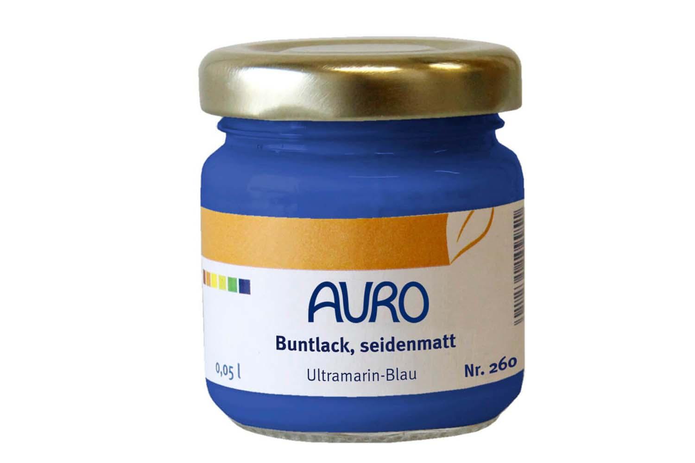 Auro Buntlack seidenmatt Nr. 260 - Ultramarin-Blau