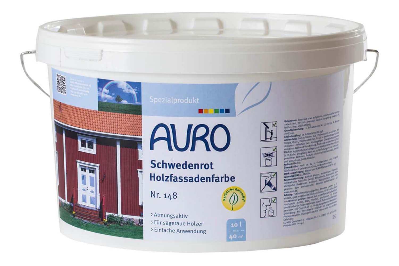 Auro Schwedenrot Holzfassadenfarbe Nr. 148