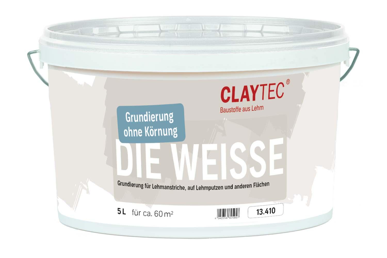 Claytec Grundierung DIE WEISSE glatt