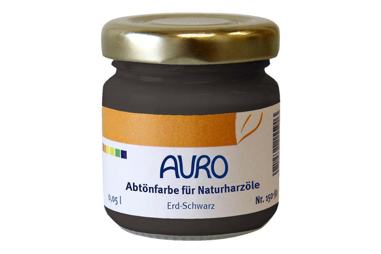Auro Abtönfarbe für Naturharzöle Nr. 150 - Erd-Schwarz