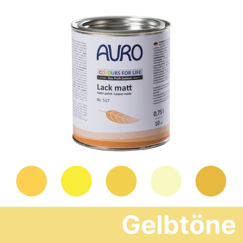 Auro Colours for Life Lack matt - Gelb