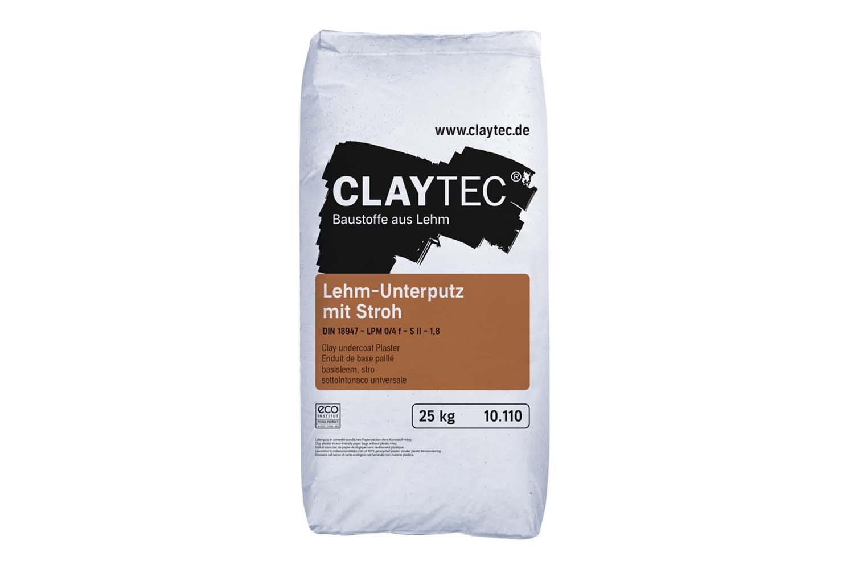 Claytec Lehm-Unterputz grob mit Stroh