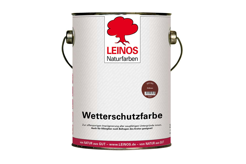Leinos Wetterschutzfarbe auf Ölbasis 850 Erdbraun