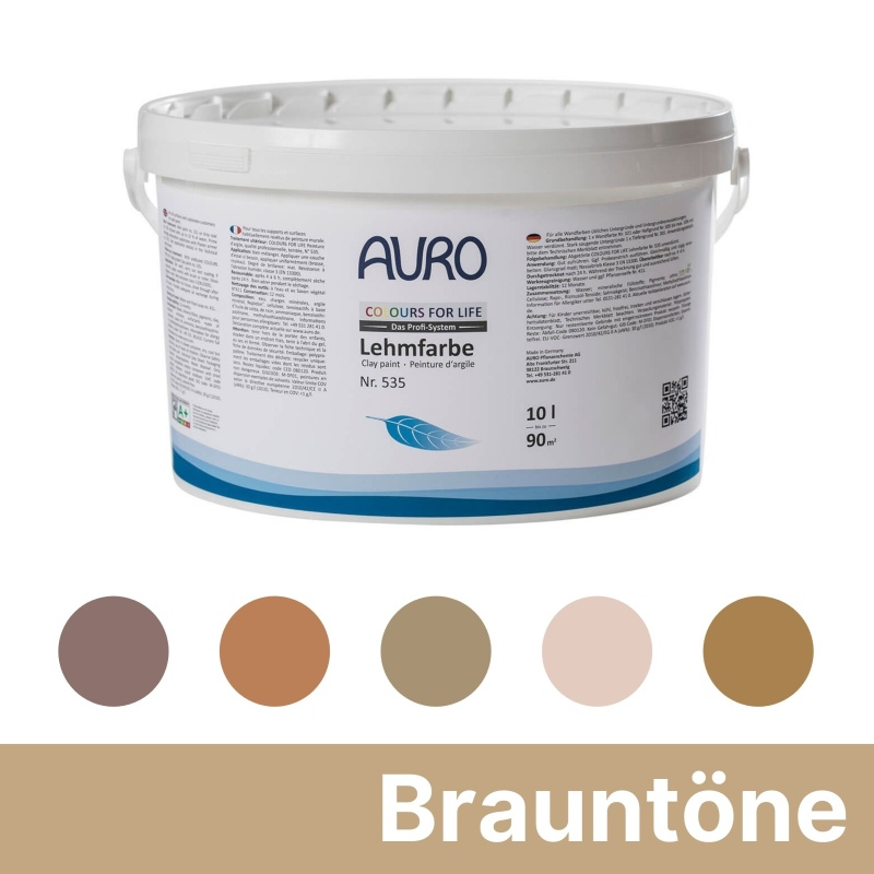 Auro Colours for Life Lehmfarben - Braun