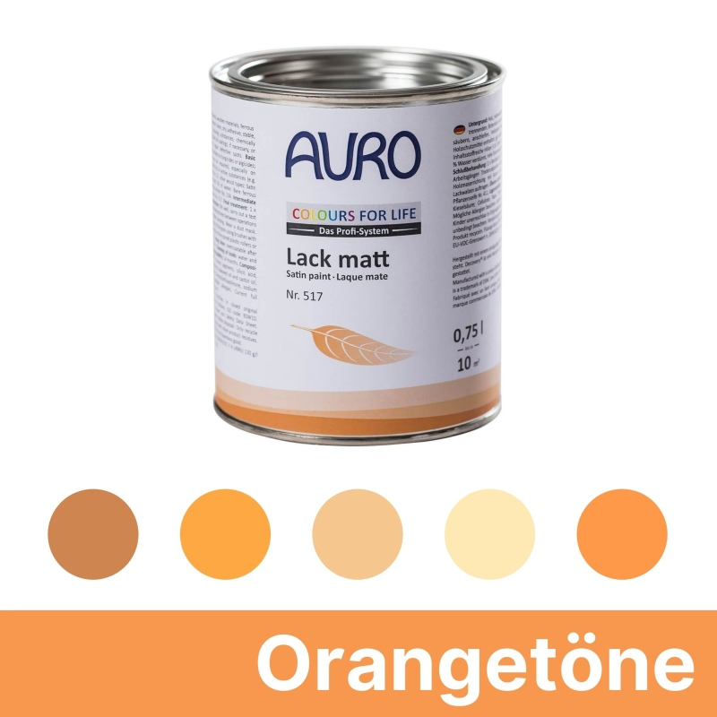 Auro Colours for Life Lack matt - Orange