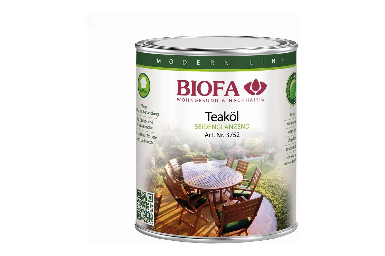 Biofa Teaköl für Gartenmöbel