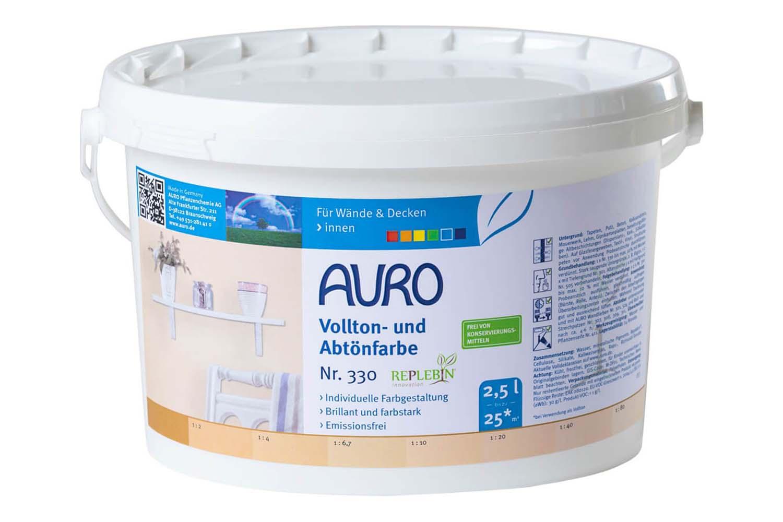 Auro Vollton- und Abtönfarbe Nr. 330 - Ocker-Gelb