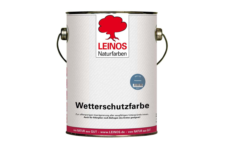 Leinos Wetterschutzfarbe auf Ölbasis 850 Friesenblau