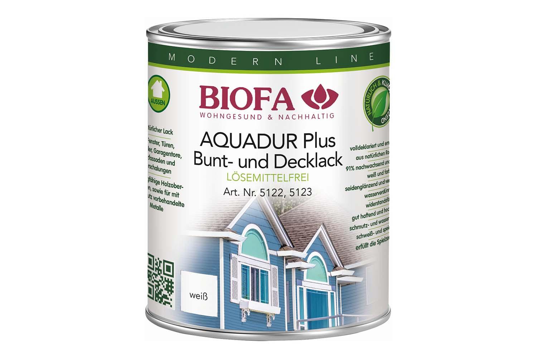 Biofa AQUADUR Plus Decklack außen, weiß
