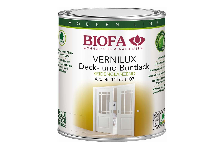 Biofa VERNILUX Decklack innen, weiß, seidenglänzend