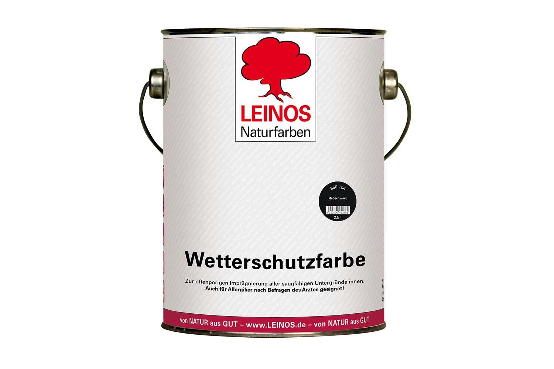 Leinos Wetterschutzfarbe auf Ölbasis 850 Rebschwarz