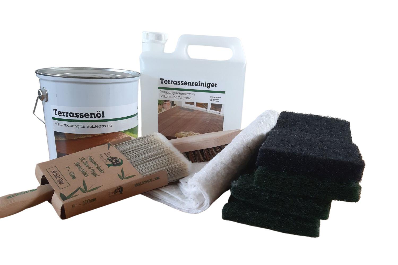 Reinigungs- und Pflegeset für Holzterrassen - natur