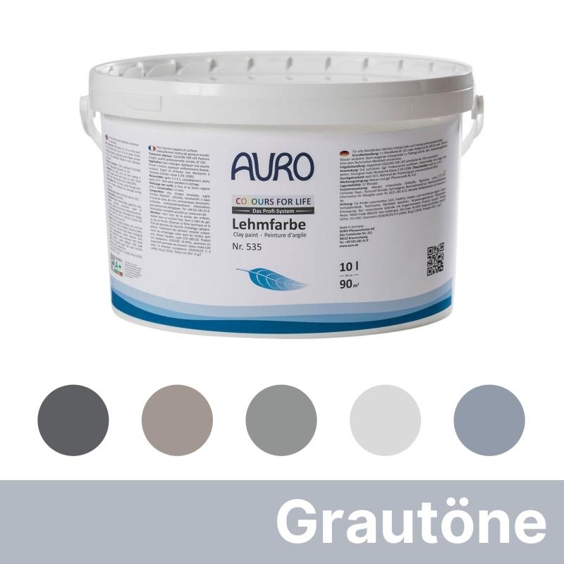 Auro Colours for Life Lehmfarben - Grau